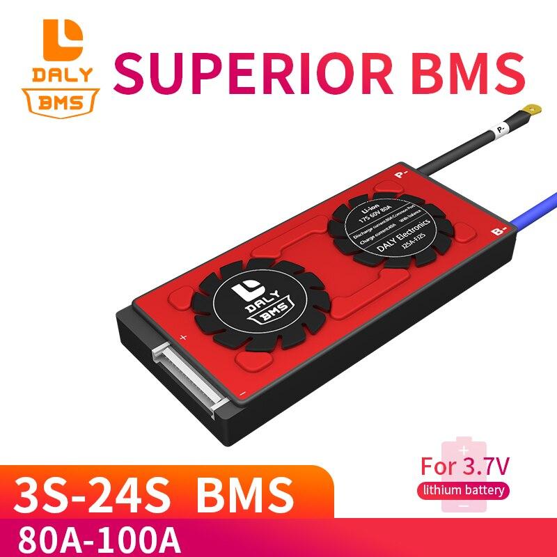 DALY BMS 4S ~ 24S Lifep04 Защитная плата литий-ионного аккумулятора LifePo4 80A 100a 8S 10S 12S 13S 14S 16S 17s 20s 21s с балансом