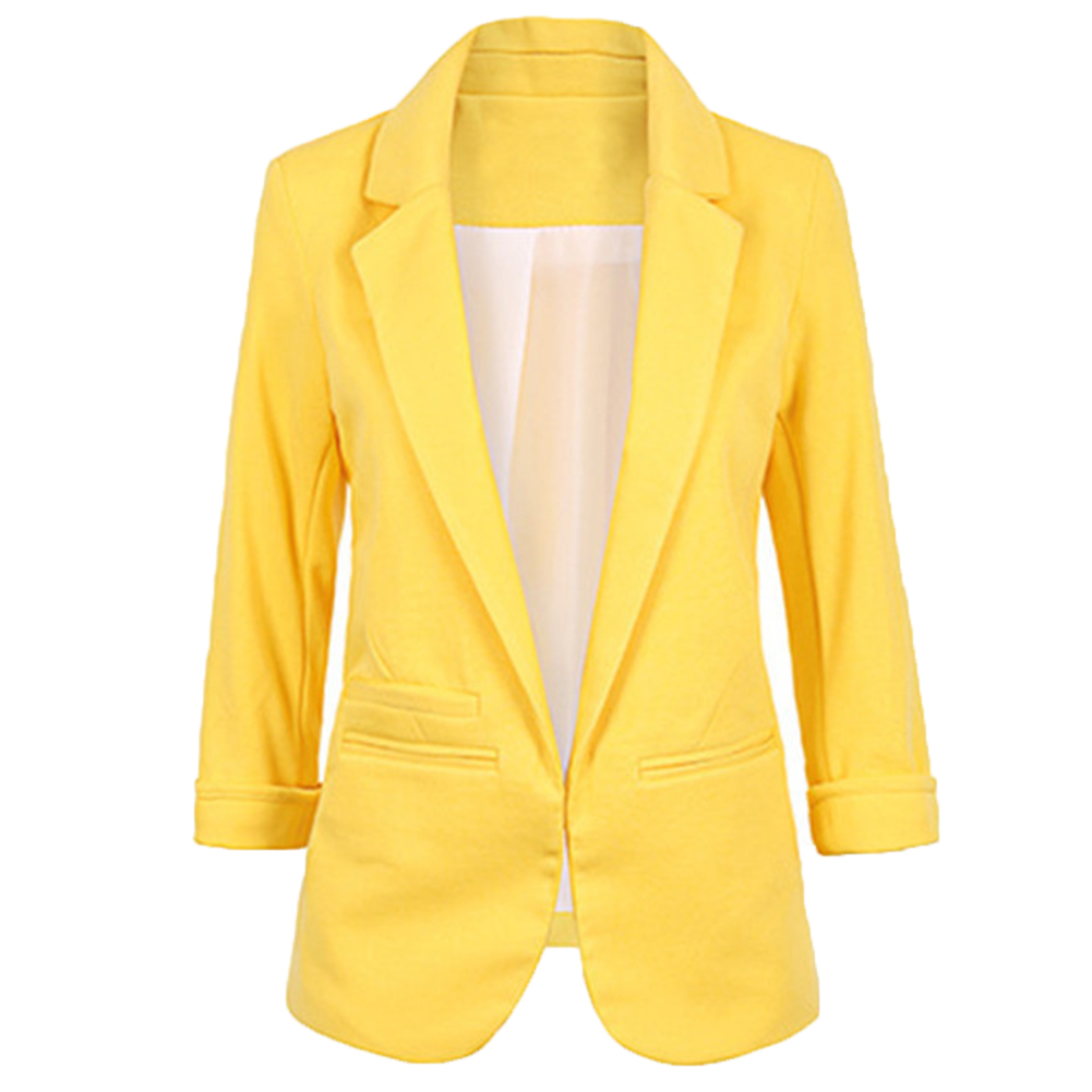 Women Basic Blazer Beading Pearl Pockets Candy Retro Casual Outwear Chic Tops