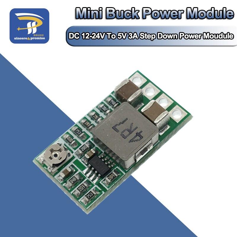 1Pcs Mini DC-DC 12-24V To 5V 3A Step Down Power Supply Module Voltage Buck Converter Adjustable 97.5% 1.8V 2.5V 3.3V 5V 9V 12V(China)