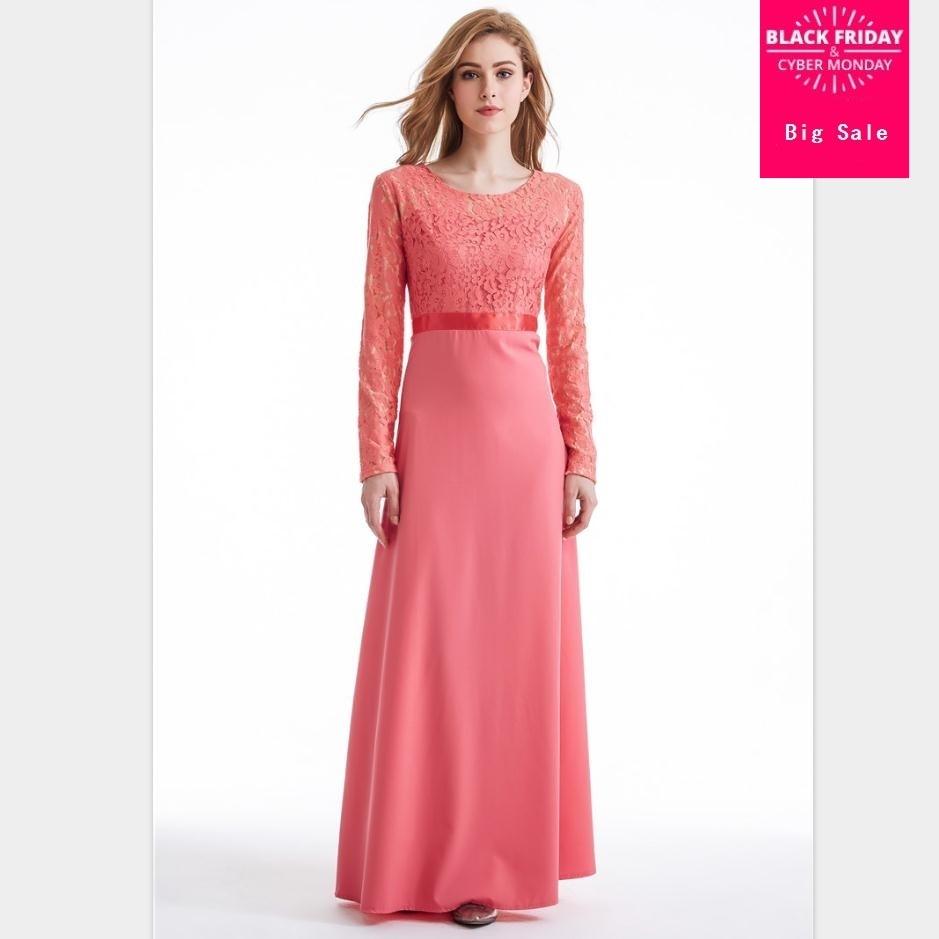2019 parent dentelle coton liene dentelle Robes Musulmane turc Abaya Robes musulmanes arabe culte Service Wj592 adulte et enfant