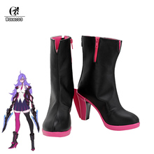 ROLECOS Game LOL Battle Academia Cos Katarina Cosplay Shoes for Women Cosplay Shoes парик cos cosplay 80cm