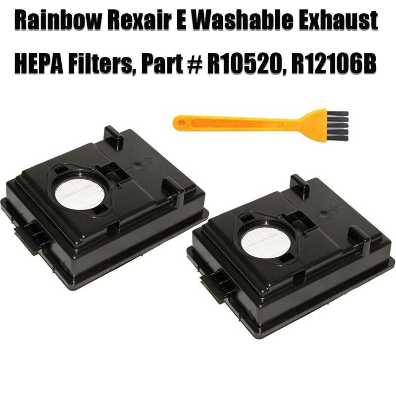 Washable Rainbow Rexair E Series Grid Filters Part # R10520 R-10520 R12106B R12179 Vacuum Cleaner Hepa Kit Parts Accessories