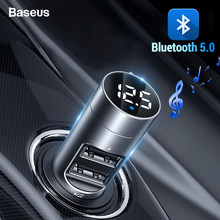 BASEUS FM Transmitter Mobil Bluetooth 5.0 FM Radio Modulator Mobil Kit 3.1A Usb Mobil Charger Handsfree Wireless Bluetooth Aux Audio MP3 pemain(China)
