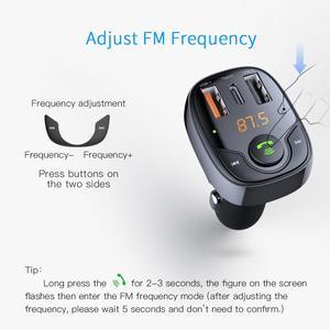 Image 3 - ROCK Three USB Car Charger B301 Bluetooth 5.0 FM Transmitter Digital 3.4A Intelligent Distribution Current Fast Quick Charging