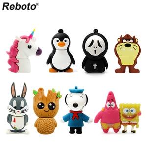 Cartoon USB Flash Drive 64GB 32GB16GB 8GB 4GB Pendrive Dog Penguin Lion Ghost Groot Character Cartoon Animal Pen Drive USB Stick