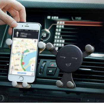 Car Phone Holder For Mobile Phone Gravity Bracket For iPhone X 11 8 Air Vent Mount Cell Phone Support in Car Phone GPS Stand image
