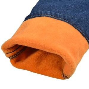 Image 5 - 2020 winter kinder kleidung jungen jeans beiläufige dünne verdicken fleece denim baby jungen jeans für jungen große kinder jean lange hosen