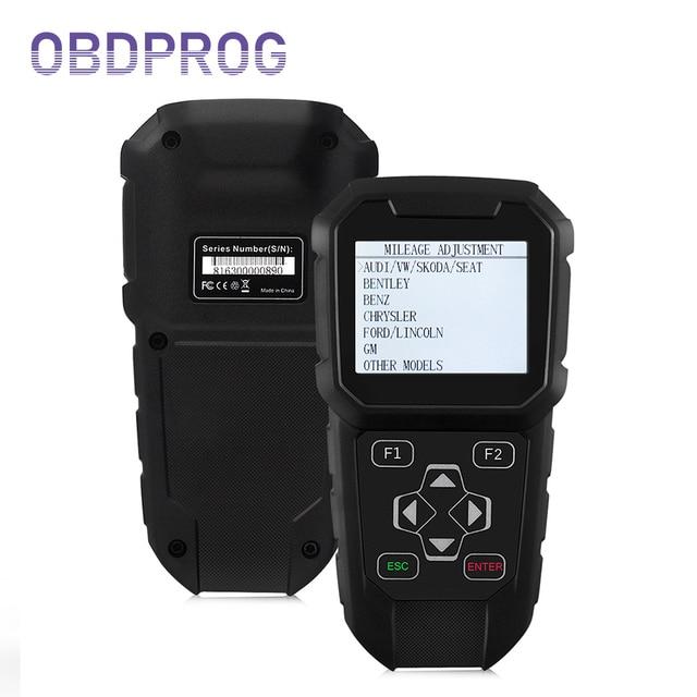 OBDPROG OBD2 마일리지 수정 도구 전문 자동차 프로그래머 SUV 밴 코드 리더 자동 마일리지 조정 도구 MT401