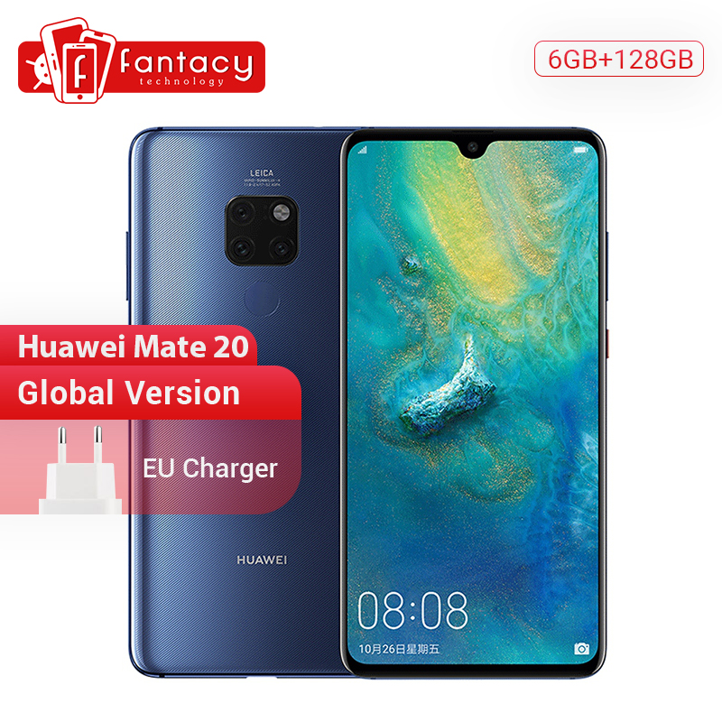 Global Version Huawei Mate 20 6G128G Smartphone 6.53 Inch Mobile Phone Kirin 980 NFC Kirin 980 Octa Core EMUI 9.0 4000mAh