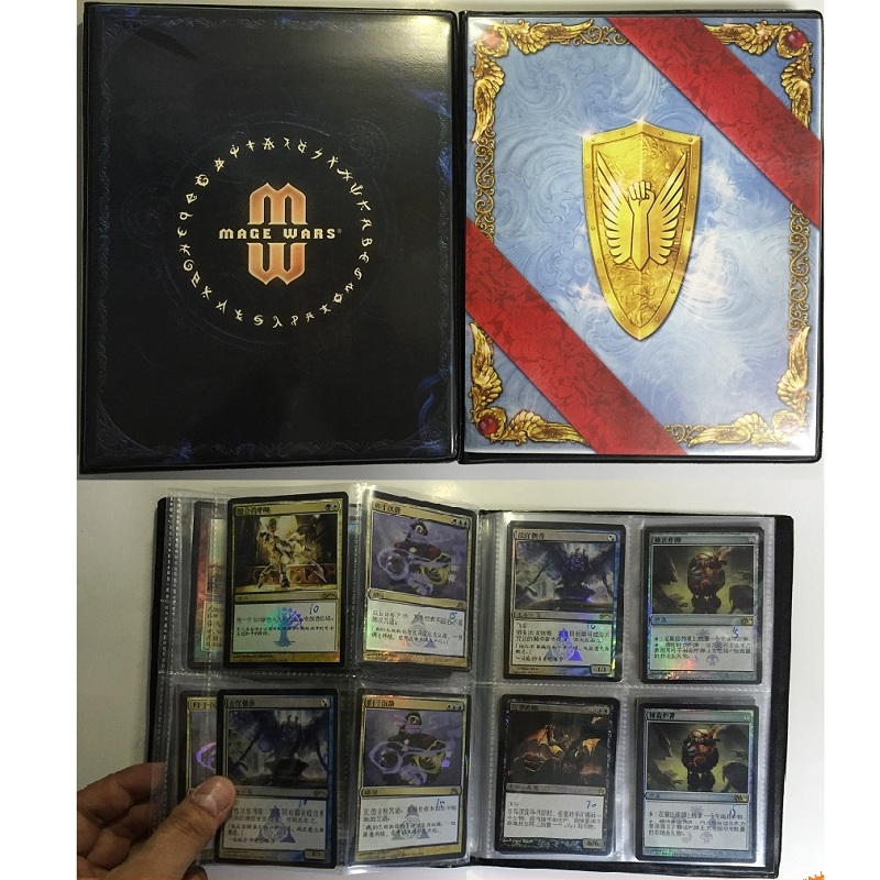 20 Pages Board Game Cards Album Collection Star Card Book  For Magical Mtg Dungeons And Dragons Gathering For YU-GI-OH Cards
