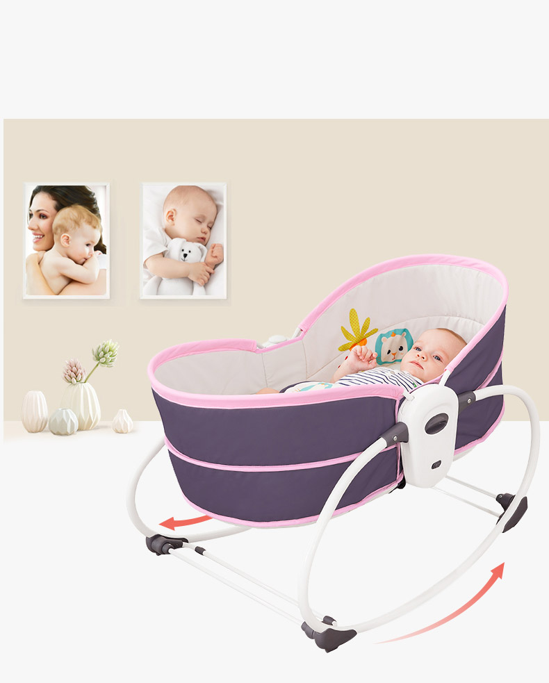 H59264e543e8e45aaaead124020535c5ch Baby electric baby cradle vibration crib in bed rocking chair can do shaker recliner basket three functions optional