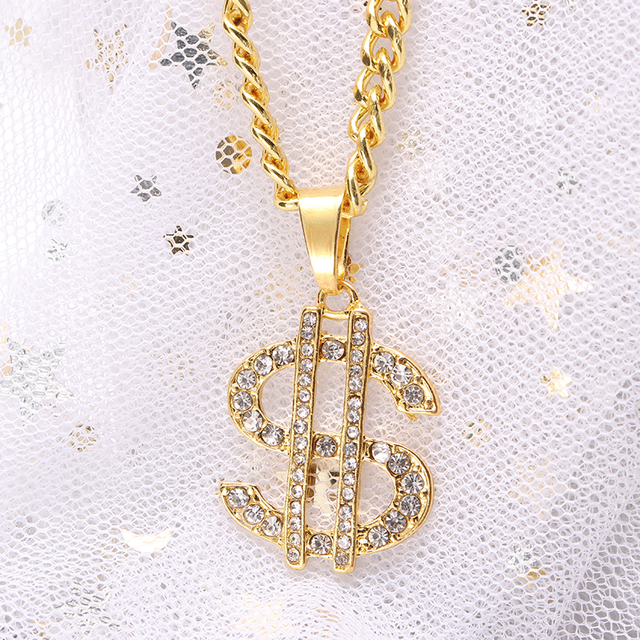 US Dollar Money Sign Pendant Necklaces 4