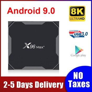 цена на Android 9.0 TV BOX X96 MAX Plus 4GB 64GB 32GB Amlogic S905X3 Quad Core 8K Media Player 2.4/5G Dual Wifi X96max Smart Tv Box