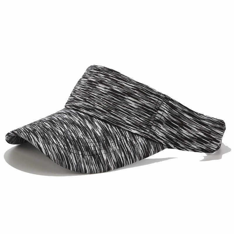 Chapeau d'athlétisme casquette réglable dégradé de couleur écran solaire visière vide capuchon supérieur confortable populaire de haute qualité Design de mode