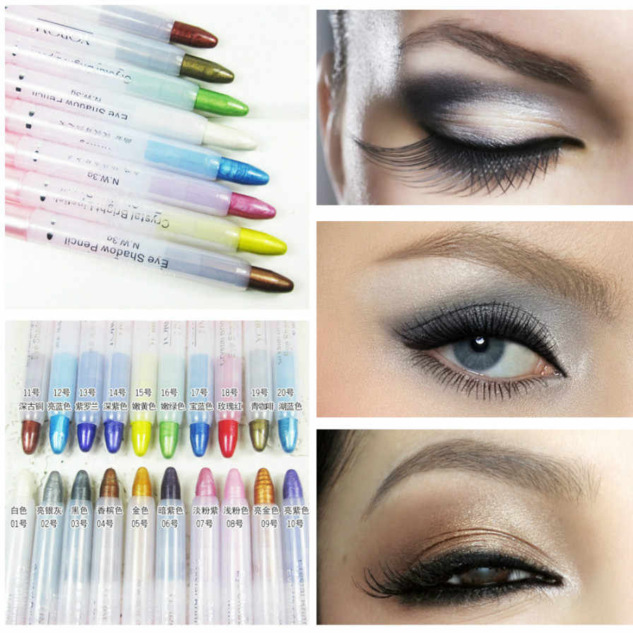 Fashion Eye Shadow Pena Eyeshadow Makeup Pallete Eye Shadow Palet Shimmer dan Bersinar Berlian Eyeshadow Bubuk Kosmetik