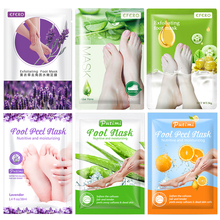 6pair Whitening Exfoliating Foot Mask Peeling Moisturizing Foot Patches Heel Pedicure Socks Remove Calluses Dead Feet Peel Masks
