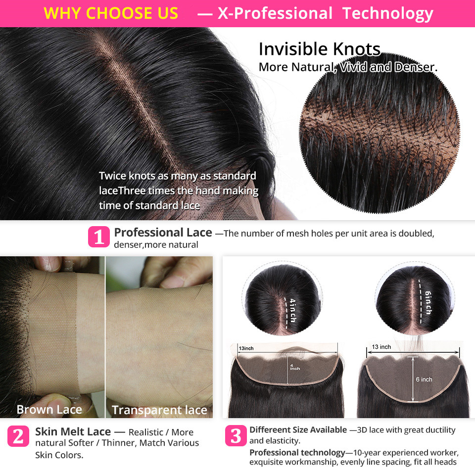 H5926f21fbf944c09a0d04e6cbd2a5af8C Brazilian Straight Human Hair Bundles With Lace Frontal Closure Pre Plucked 13x6 Lace Frontal With 3 Bundles Remy AliPearl Hair