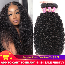 """UNice Hair 100% Curly Weave Human Hair Remy Hair 8 26"""" Brazilian Hair Weave Bundles Natural Color 1 Piece Black Friday Deals"""