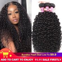 """Unice Haar 100% Curly Weave Human Hair Remy Haar 8 26 """"Braziliaanse Haar Weave Bundels Natuurlijke Kleur 1 stuk Zwarte Vrijdag Aanbiedingen"""