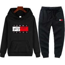 2021 new brand new casual sportswear men's suit hoodie + pants two-piece printed hooded sweatshirt suit