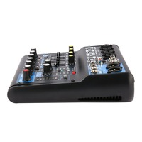 8 Channel DJ Powered Mixer Professional Power Mixing Amplifier USB Slot 16DSP +48V Phantom Power for Microphones US Plug