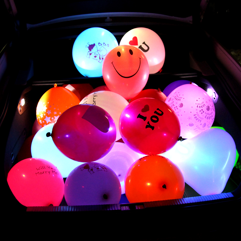 5pcs LED Balloon Flash Luminous Lamps Latex Balloons Wedding Party ChristmasValentine's Day Decoration Tools Home Wedding Deco