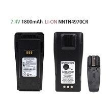 2-Way Radio Replacement Battery 7.4V 1800mAh Li-on for Motorola NTN4496 and CP040, 140, 160, 200 Radios