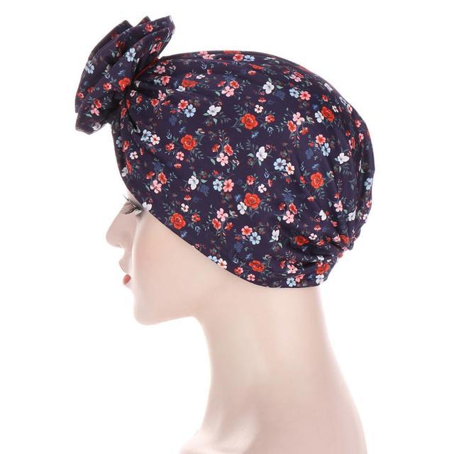 Фото новый цветочный тюрбан шляпы для женщин химиотерапия рак головные цена