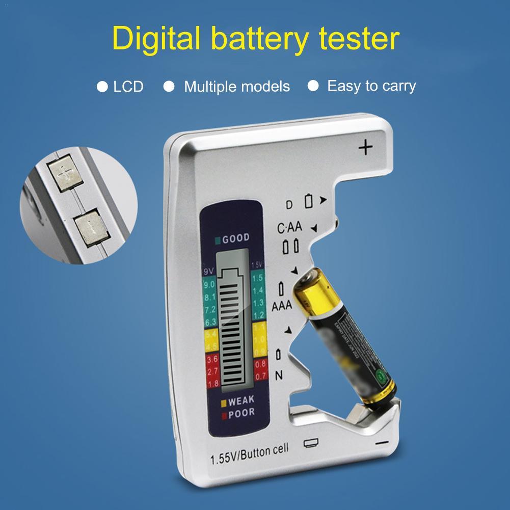 Универсальный, цифровой, с жк дисплем тестер батареи кнопка проверки сотового детектора емкости для C/D/N/AA/AAA/9 в батареи инструменты тестирования|Тестеры аккумуляторов|   | АлиЭкспресс