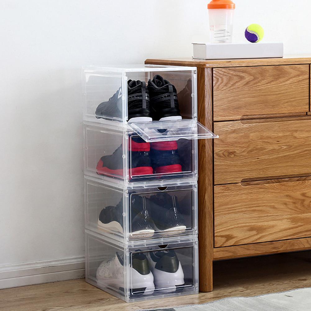 1Pcs Plastic Shoe Box Transparent Drawer Case Dustproof Shoes Storage Container Storage Box For Toys Shoes Box Shoe Storage Orga