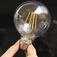 Retro style Edison LED E27 light source 2W G80 filament bulb romantic