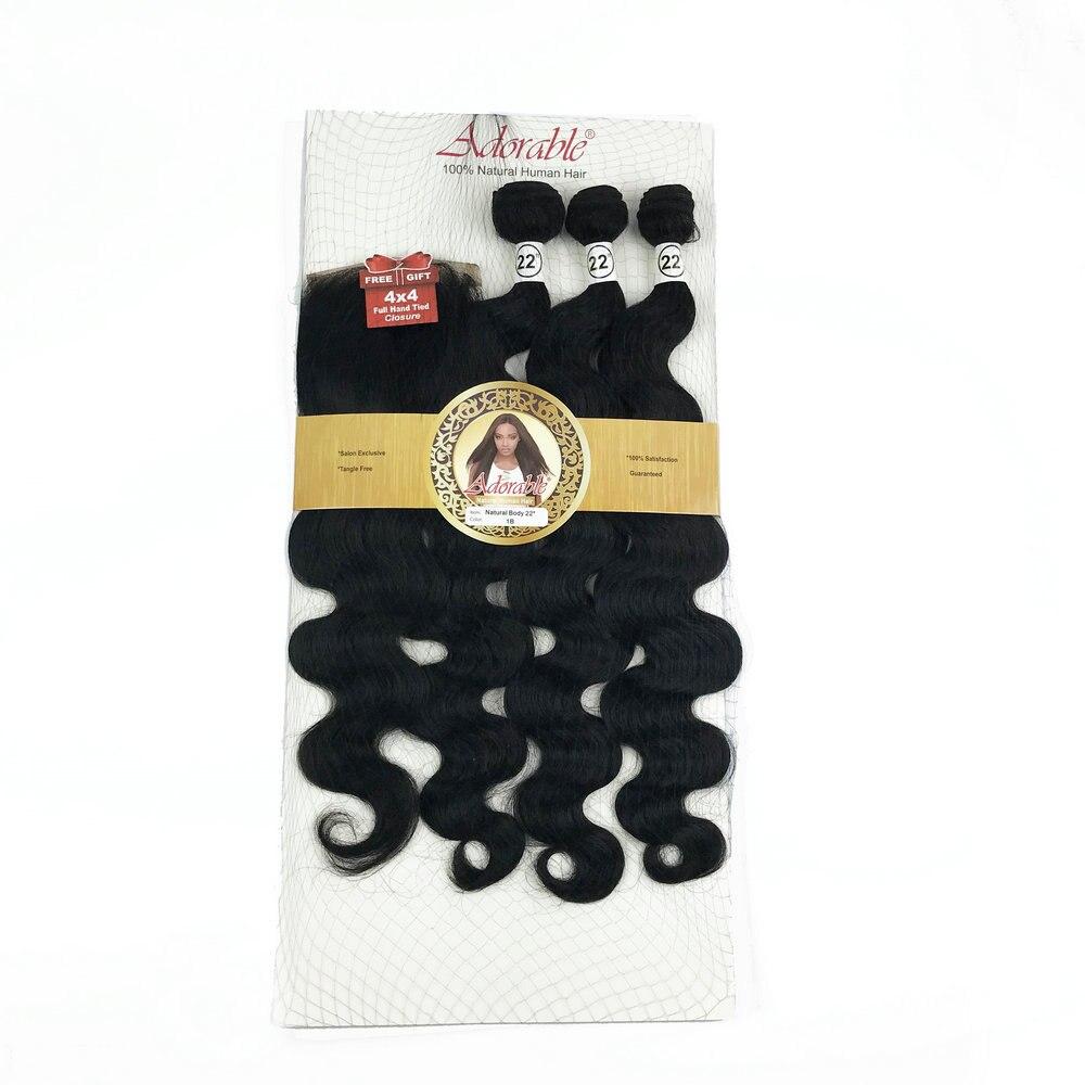 4*4 pacotes de cabelo de pacote reto