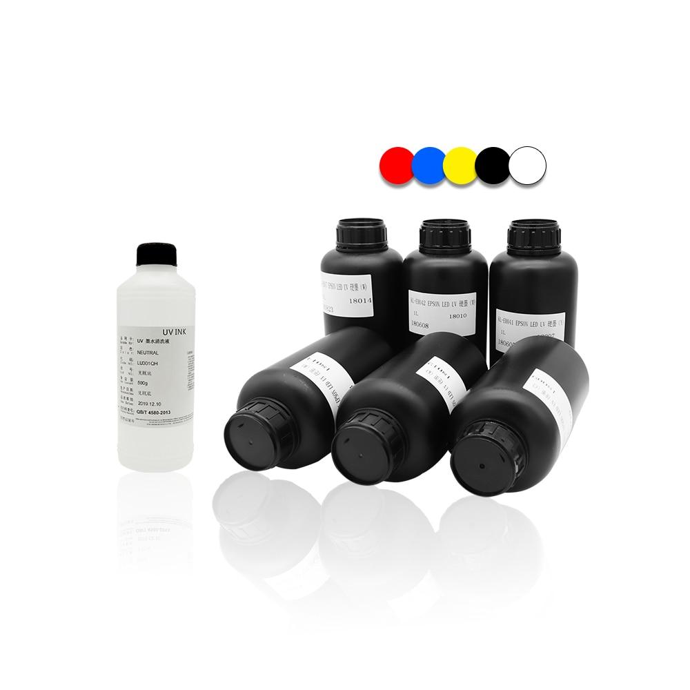 A4 kleinformaat UV-led flatbed printer inkjetprinters met 1 set - Office-elektronica - Foto 5