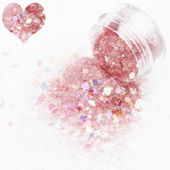 10ml/Jar Holographic Powder Nail Glitter Nail Art Spangles Sparkles Sequins Mixed Shapes Thin Flakes For Manicure Decoration image
