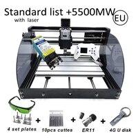 15W CNC Router Machine Hobby DIY Engraving Machine for Wood PCB PVC Mini CNC3018 Laser Engraver