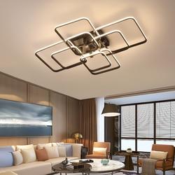 APP sterowane telefonem nowoczesne lampy sufitowe led do salonu sypialnia gabinet matowy czarny/biały wykończone lampy sufitowe 90-260V