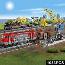 DIY City Remote Control Heavy Haul Rail Vehicle Train Building Blocks DIY Education Toys For Boys Kid Gift Designer For Children