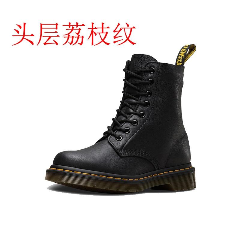 Dr/1460 г.; Классические ботинки Martin с 8 отверстиями и зернистой поверхностью; Женские Ботинки Martin на тонкой подошве|Сапоги до середины голени|   | АлиЭкспресс
