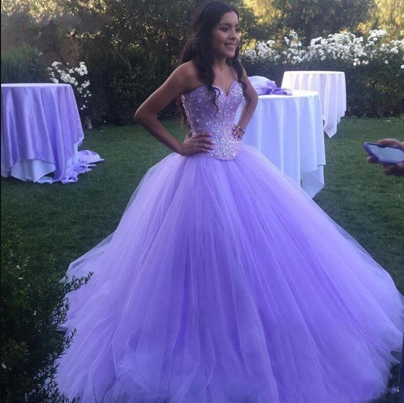 Luxury New Crystals Quinceanera Dresses Ball Gown Tulle Prom Debutante Sixteen Sweet 16 Dress vestidos de 15 anos
