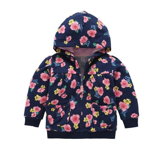 27kids  Kids Hoodies baby boys girls hooded sweatshirts cotton cartoon tops flower wear kids clothes Hooded Boy Top Baby Sweater 1