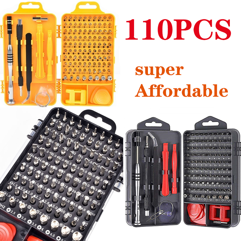 110 in 1 Precision Screwdriver Set with Magnetic Driver Kit Electronics Repair Tool Kit for Repair Cell Phone Watch Tablet PC