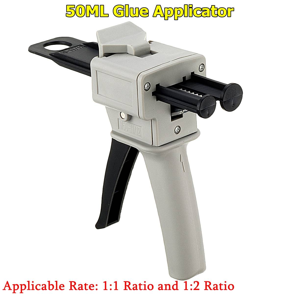 50ML AB Epoxy Glue G Un Applicator Glue Adhensive G Un Mixed 1:1 And 2:1 Two Component AB Glue Dispensing G Un Hand Tools