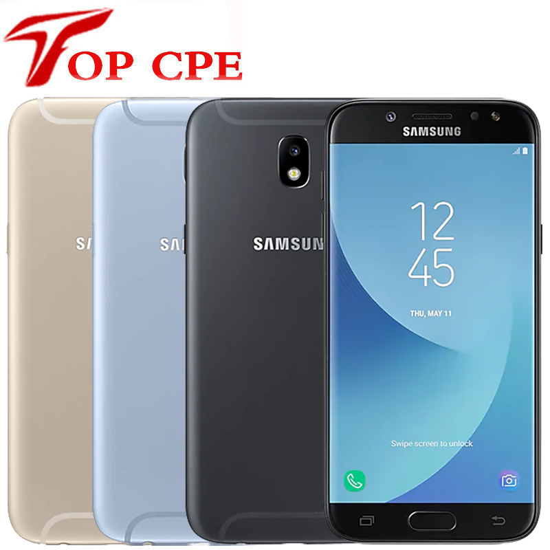 Samsung galaxy j5 pro 2017 j530f original desbloqueado 16gb rom 2gb ram 1080p 13.0mp câmera 5.2 polegada lte octa-core telefone móvel