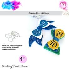 mermaid bow dies new ocean Metal Cutting Dies Scrapbooking Craft Cut For DIY Paper Card Making Embossing 2019