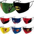 Костюм для косплея Брюса Уэйна, Пылезащитная маска супергероя, детские маски с фильтром, моющиеся, Петер Паркер, Кларк, Кент