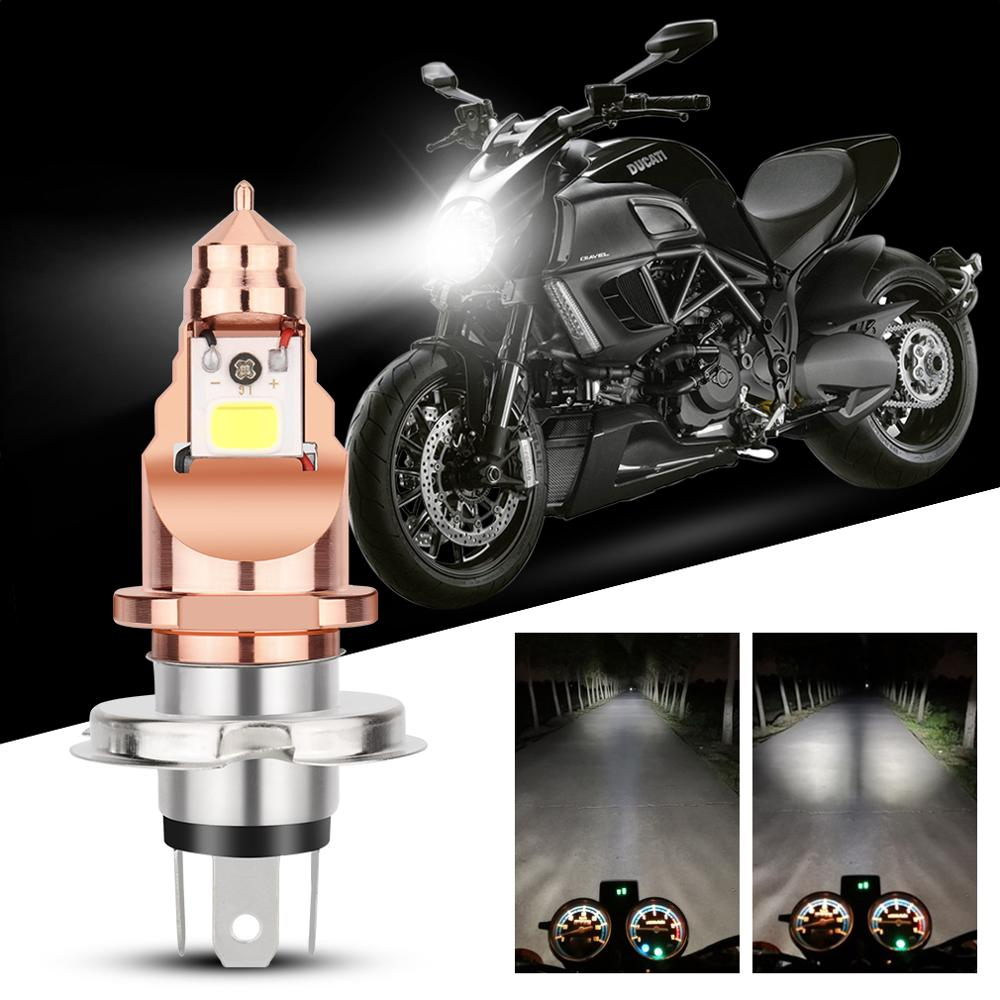 1pcs H4 BA20D Motorcycle Headlight Led Bulbs Fog Lights COB Chips 12V 1200LM Moto Accessories For Scooter/Moped/Motor/Motorcycle