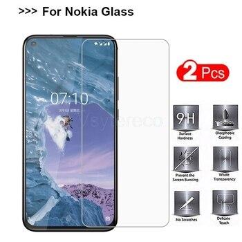Перейти на Алиэкспресс и купить 2 шт пленка для мобильного телефона Nokia 2 V 2,2 3,1 A C 3,2 4,2 Стекло 9H закаленное стекло для Nokia 9 PureView X6 X7 X71 протектор экрана