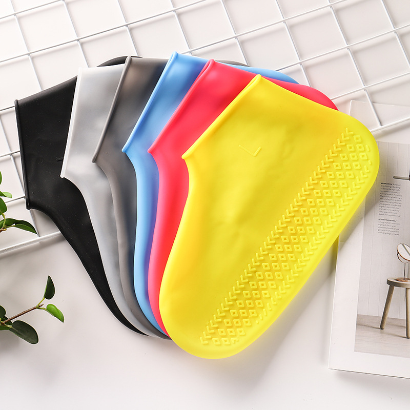 Waterproof Shoe Cover Silicone Material Reusable Shoes Organizers Unisex Shoes Protectors Rain Boots For Outdoor Rainy Days