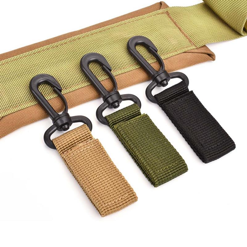 360 Degree Rotation Military Tactical Belt Plastic Hanging Carabiner  Outdoor Ribbon Buckle Camp Water Bottle Hanger