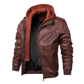 HOT New Men's Leather Jackets Autumn Casual Motorcycle PU Jacket Biker Leather Coats Brand Clothing EU Size